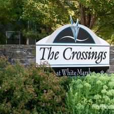 Rental info for Crossings at White Marsh