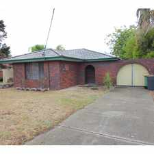 Rental info for SCHOOL, SHOPS AND TRAIN STATION AT YOUR DOORSTEP! in the Perth area