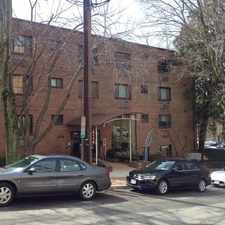 Rental info for A spacious two bedroom, one bath apartment located on the top floor of a 50-unit condominium building in the much sought after Glover Park neighborhood of Northwest Washington, DC. in the The Palisades area
