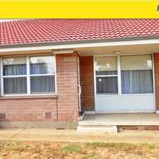 Rental info for Unit in Quiet Location in the Adelaide area