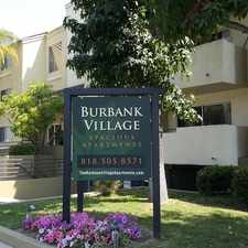 Rental info for Burbank Village Apartments in the Los Angeles area