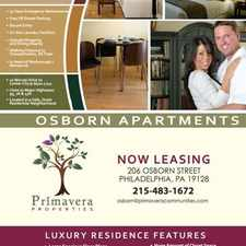 Rental info for Osborn Apartments in the East Falls area