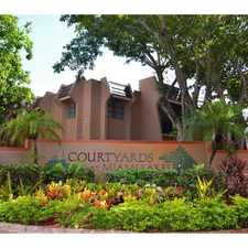 Rental info for Courtyards at Miami Lakes in the Miami Lakes area