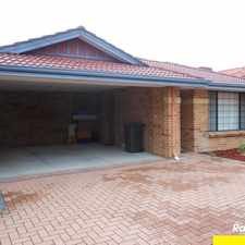 Rental info for LIGHT AND BRIGHT VILLA IN SECURE COMPLEX in the Perth area