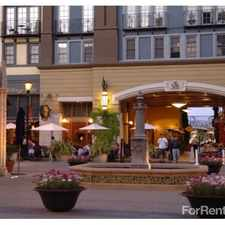 Rental info for Santana Heights at Santana Row in the San Jose area