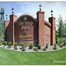 Rental info for Cedar Springs Estates IV