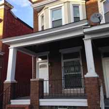Rental info for This house has exposed brick wall in living room, new kitchen, new bathrooms, furance and central air. Also new floors. (totally redone) It will be completed around the end of Feb. 2015. All new applances. Interested. call. See pictures soon in the Baltimore area