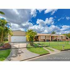 Rental info for 4 Bedroom Plus Office Plus Huge Shed in the Rockhampton area