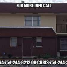 Rental info for Large Davie 2 BR Townhouse in the Davie area
