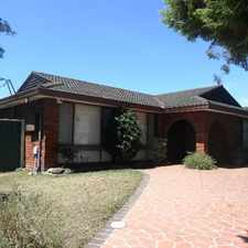 Rental info for LARGE FAMILY HOME & GRANNY FLAT in the Denham Court area