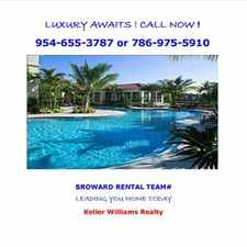 Rental info for PEMBROKE PINES LUXURY APARTMENT HOME in the Pembroke Pines area