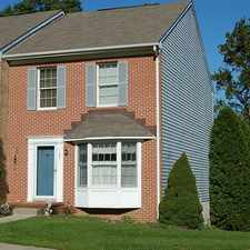 Rental info for BEL AIR - FOXBOROUGH FARMS END OF GROUP TOWNHOUSE