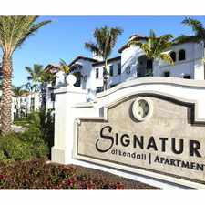 Rental info for Signature at Kendall in the Palmetto Bay area