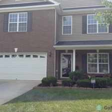 Rental info for Hardwood floors on the first level, ceiling fans throughout the house, private fenced in backyard, with deck
