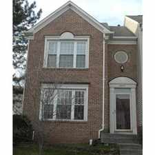 Rental info for End-unit Townhouse for rent in Centreville, vA