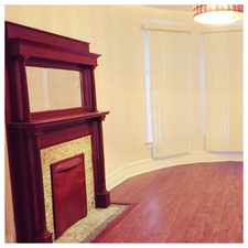 Rental info for Sunny Rehabbed 3bed Includes Cable Internet,Heat, Laundry hk up Parking, Electric, Fireplace, Privacy, 2 Grammar schools/Parks on block, Learn Charter School on Corner,Near Lake,Walk to Metra,CHA to loop, grocery, library, ymca, art center !!! in the East Side area