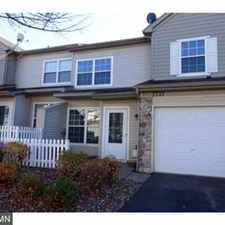 Rental info for Like New Construction Townhome on Dead End Street in the Chanhassen area