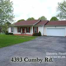 Rental info for 4393 Cumby Road