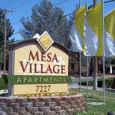 Rental info for Mesa Village Apartments in the El Paso area