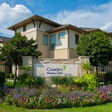 Rental info for Camden Woodson Park in the Houston area