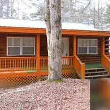 Rental info for Lovely, newer log cabin is all one level living in a private setting. $895/mo