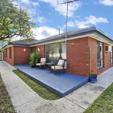 Rental info for Spacious Inside and Out in the Geelong area