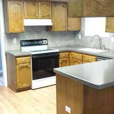 Rental info for Sharp home with Corian kitchen counters.