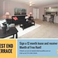 Rental info for West End Terrace in the St. Louis area