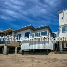 Rental info for On the beach, Malibu Road