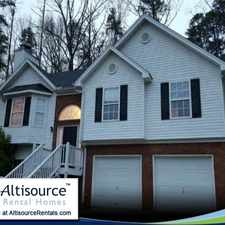 Rental info for 3 Spacious BR in Cartersville. 2 Car Garage!