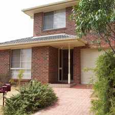 Rental info for FANTASTIC TOWNHOUSE IN GREAT LOCATION! in the Watsonia area