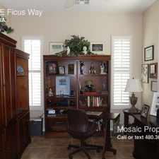 Rental info for 4383 E Ficus Way