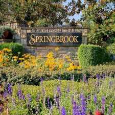 Rental info for Springbrook