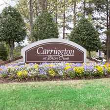 Rental info for Carrington at Brier Creek in the Brier Creek Country Club area