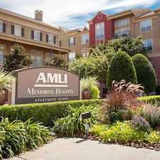 Rental info for AMLI Memorial Heights
