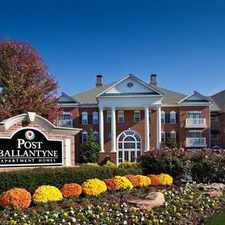 Rental info for Post Ballantyne in the Charlotte area