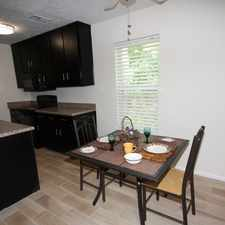 Rental info for 2 Bedroom 1 Bath apartment on the second level of building.