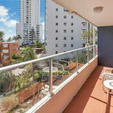 Rental info for COLUMBIA TOWERS - ELECTRICITY INCLUDED - ONE BEDROOM FULLY FURNISHED UNIT WITH OCEAN VIEWS in the Surfers Paradise area
