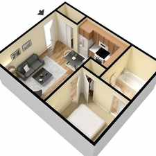 Rental info for 2 bedrooms Apartment - Large efficiency with separate kitchen area.