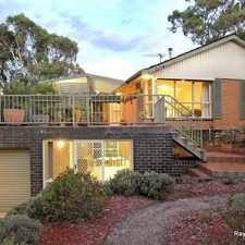 Rental info for SPACIOUS FAMILY HOME - STUDY + RUMPUS ROOM in the Greensborough area