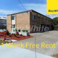 "Rental info for *** APPLICATION NOW APPROVED *** ""ONE WEEKS RENT FREE FOR 12 MONTHS LEASE"" UNIT WITH AIR CON & NEW CARPET in the Booval area"