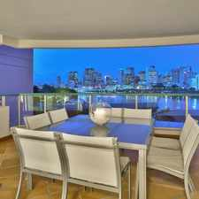 "Rental info for FULLY FURNISHED SUPERB ""PARK AVENUE"" LIVING WITH AMAZING CITY VIEWS in the South Brisbane area"
