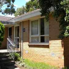 Rental info for A SHORT STROLL TO SHOPS & STATION! in the Hughesdale area