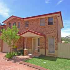 Rental info for Three Bedroom Townhouse in the Wyong area