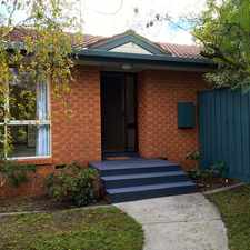 Rental info for Beautifully presented 2 bedroom house with a unit address in the Melbourne area
