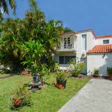 Rental info for Charming Two-story Spanish Style Home in the Miami Beach area