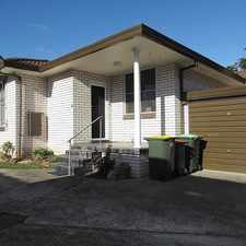 Rental info for Spacious and Homely 2 Bedroom Villa in the Mortdale area