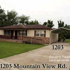 Rental info for Mountain View Drive