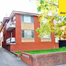 Rental info for TWO BEDROOM UNIT IN CENTRAL LOCATION in the Lidcombe area
