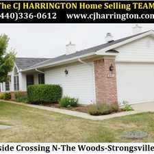 Rental info for Ohio Real Estate-18063 Woodside Crossing N)Strongsville, Ohio 44149)(440)336-0612 or WWW.CJHARRINGTON.COM in the Strongsville area